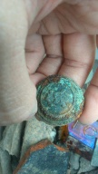 Nappi 1800-1900 luvulta. old button from 1800-1900s