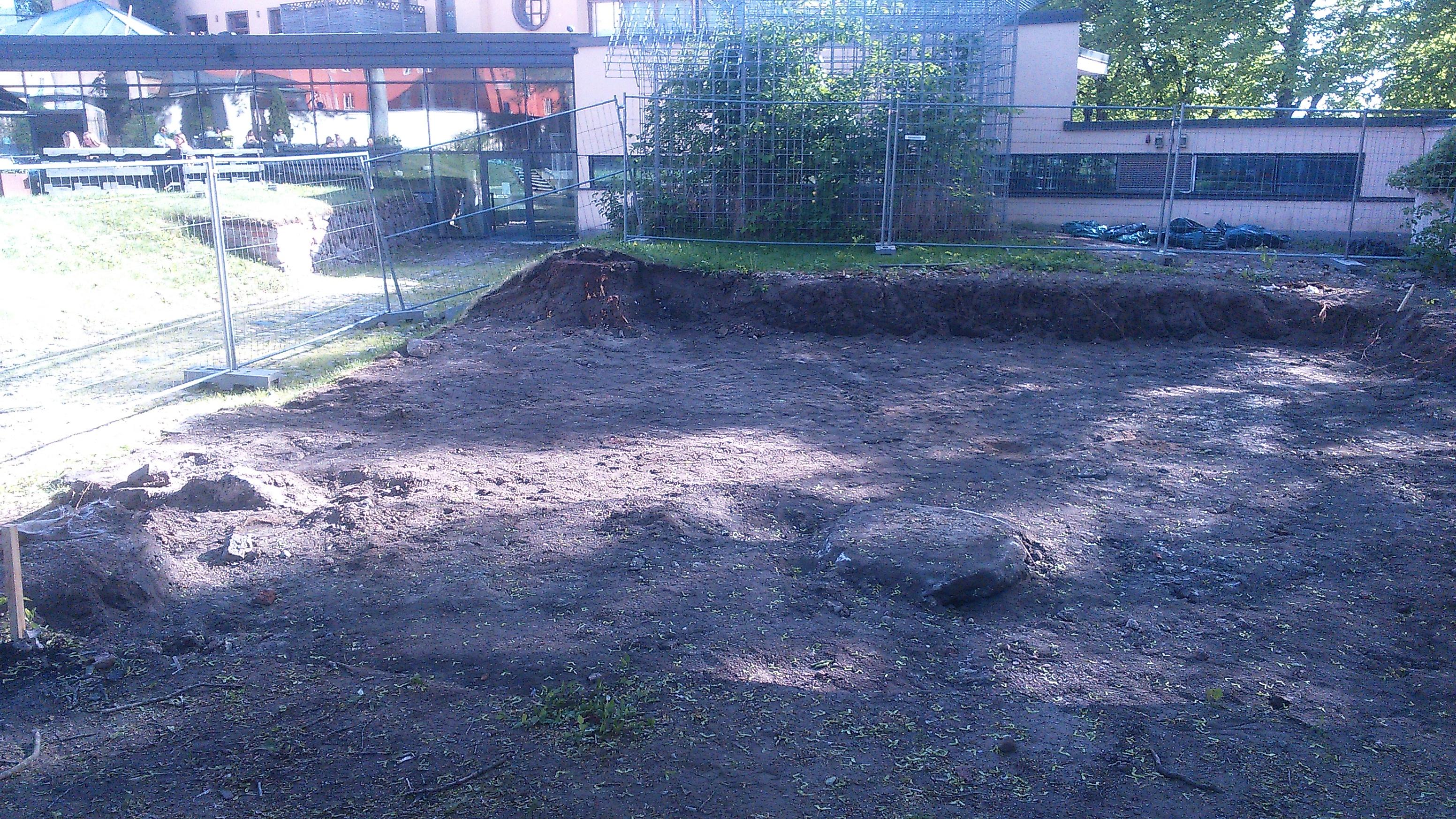 Kaivauksen alku